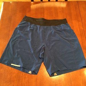 LULULEMON Blue Hardcore Athletic Shorts  L Large
